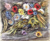Quadro di Ennio Lovatti - Fiori pastello carta